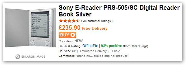 Sony E-Reader 505 at play 235