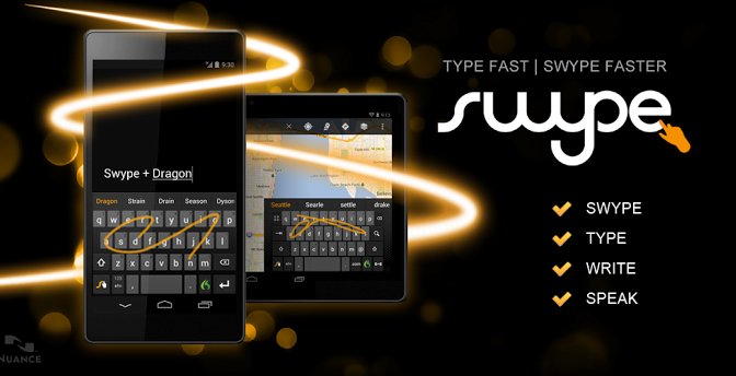Swype is the best virtual keyboard for touchscreen mobiles and tablets offering unique finger or stylus gestures.