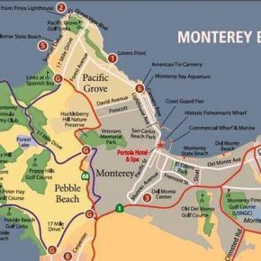 Map of Monterey, 17 Mile Drive, Pebble Beach