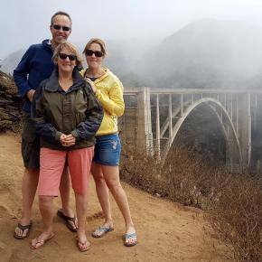 Mike & Jo & Jennie at Bixby Bridge