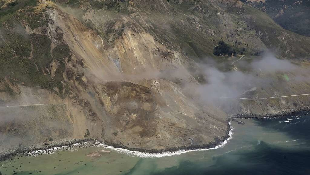 Landslide on Highway 1