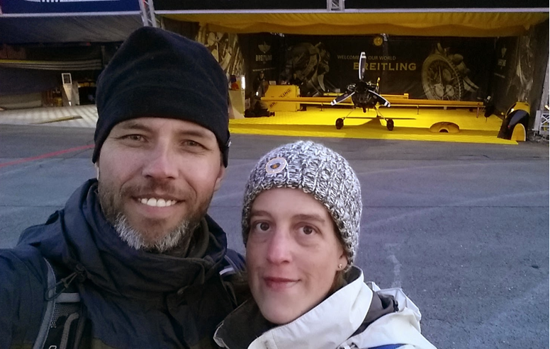 Austria 26 October 2014 Mike & Jo at the Redbull Air Race at Spielberg