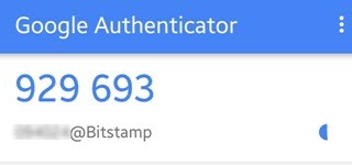 google authenticator for bitstamp