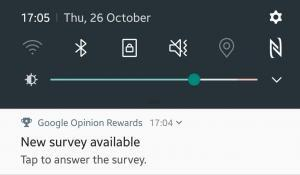 Notification on my mobile