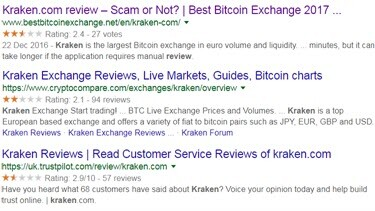 Kraken google searches