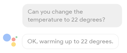 Hey Google can you change the temperature to 22 degrees?