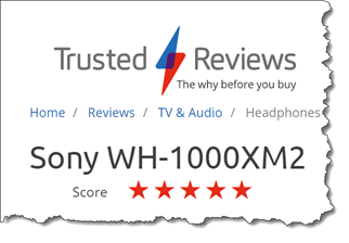 Trusted Review for Sony WH1000XM2