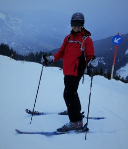 Mike pose on slopes