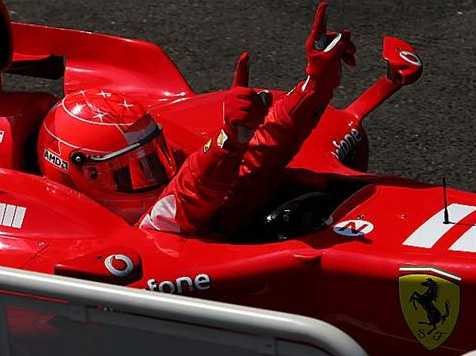 Michael Schumacher wins his eighth French GP.