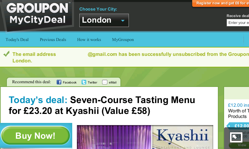 Warning: Do not sign up for Groupon email newsletter!