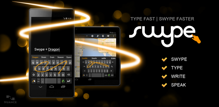 Bowen uses Swype virtual keyboard on all mobile devices because it is the best.