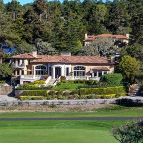 Expensive house on golf course
