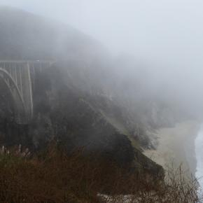 Bixby Creek Bridge in the mist