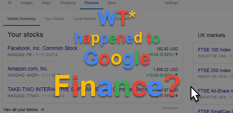 WTF happened to Google Finance?