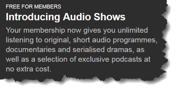 Audio shows on audible