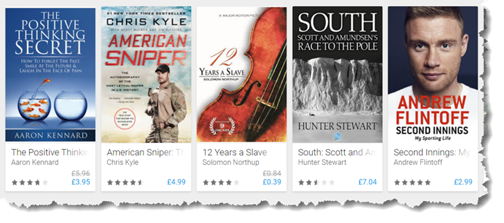 Come on Google Play Book, offer audiobooks