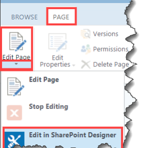 Click Page click Edit in SharePoint Designer search for rowlimit