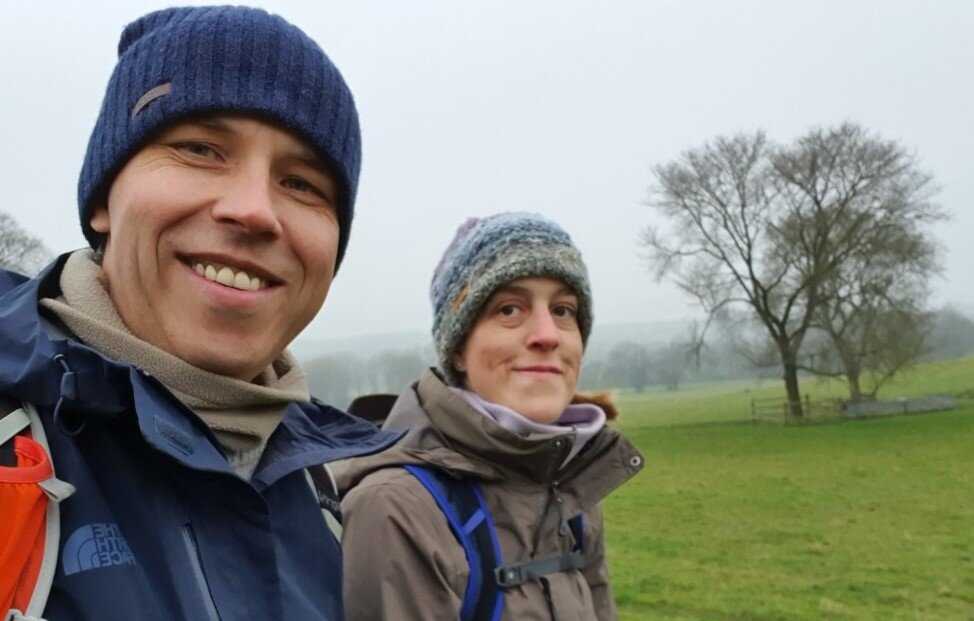 Mike and Jo walking Oxted to Titsey
