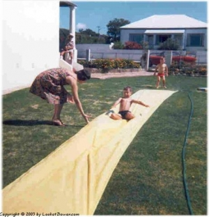 The slip n' slide was one of our favourite Christmas presents