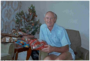 Dad handing out presents